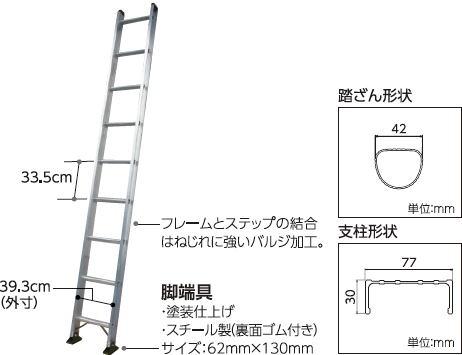 鉄骨柱昇降用ハシゴ取付金具モンキークライマー