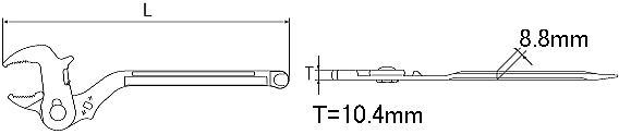 量水器メーターレンチ 寸法