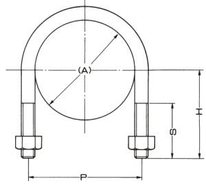 A10617ステンUボルト図面