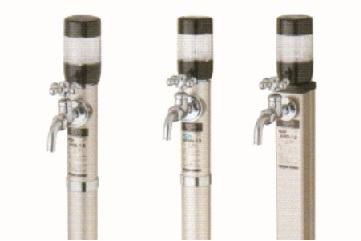 デザイン水栓柱光合金ライト付