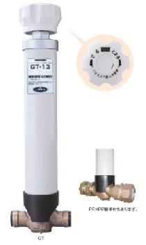 水抜栓 GT  配管の凍結防止のため、水抜栓より先の配管の水を抜く装置です